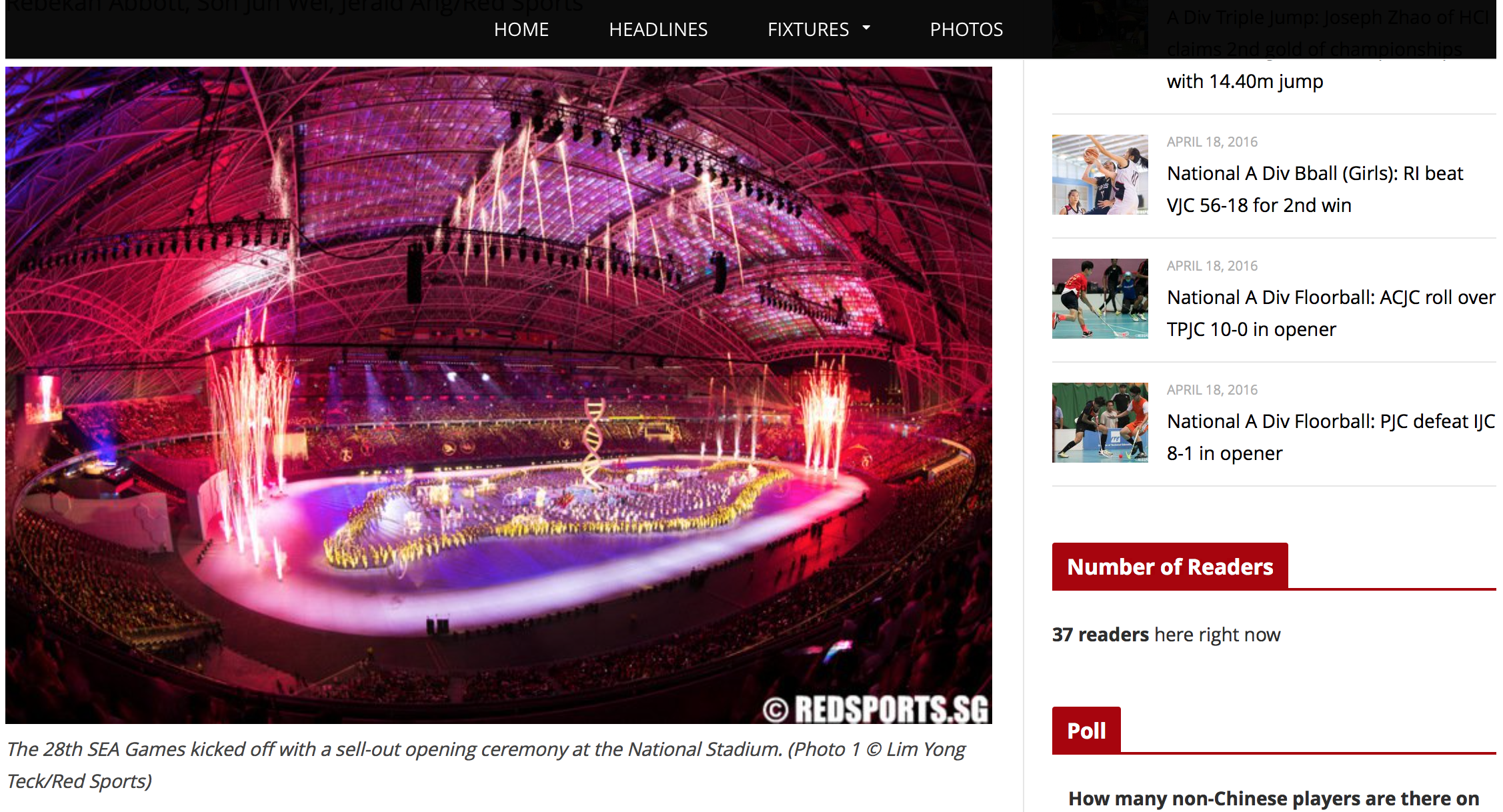 Opening ceremony, 28th Southeast Asian Games for Red Sports (www.redsports.sg)