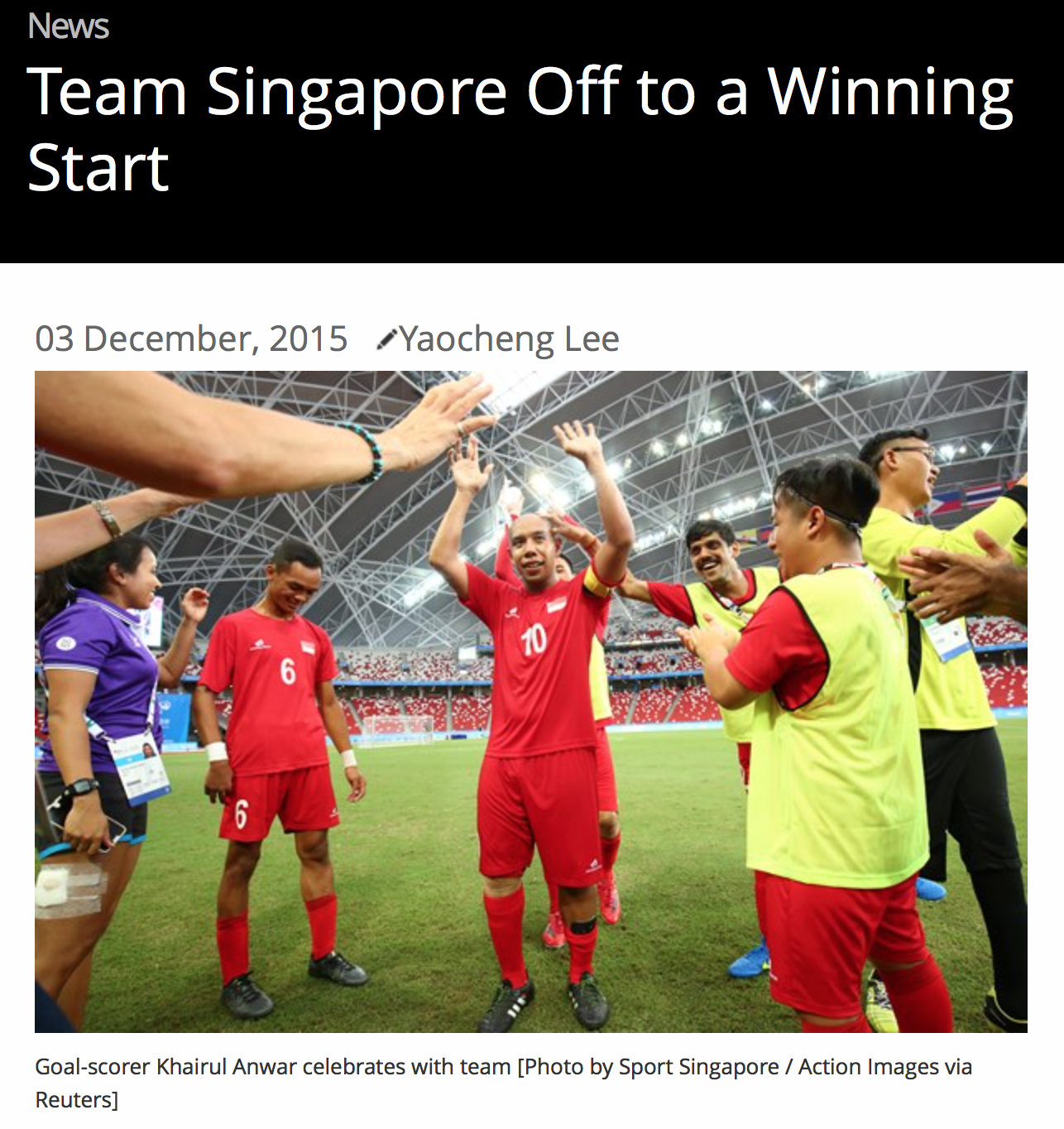 8th ASEAN Para Games, Sport Singapore (www.myactivesg.com)