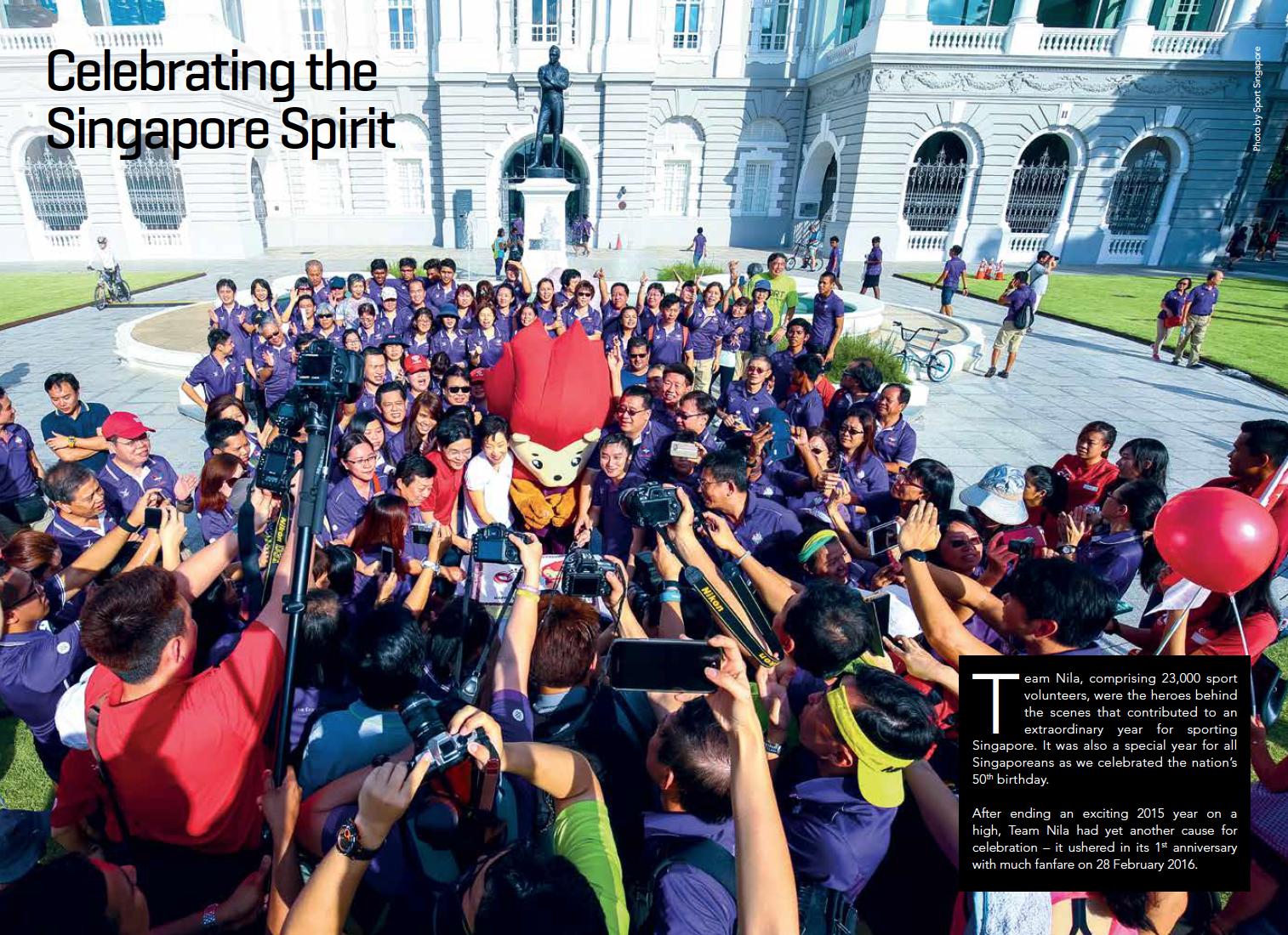 Team NILA birthday celebrations for Thomson Reuters for Sport Singapore