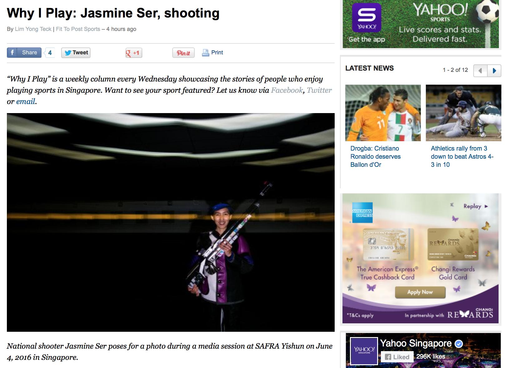 Jasmine Ser feature for Yahoo! (www.yahoo.com)
