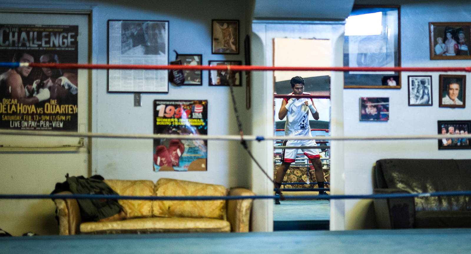 George Rico works out at the La Habra Boxing Club on November 6, 2015 in La Habra, California.