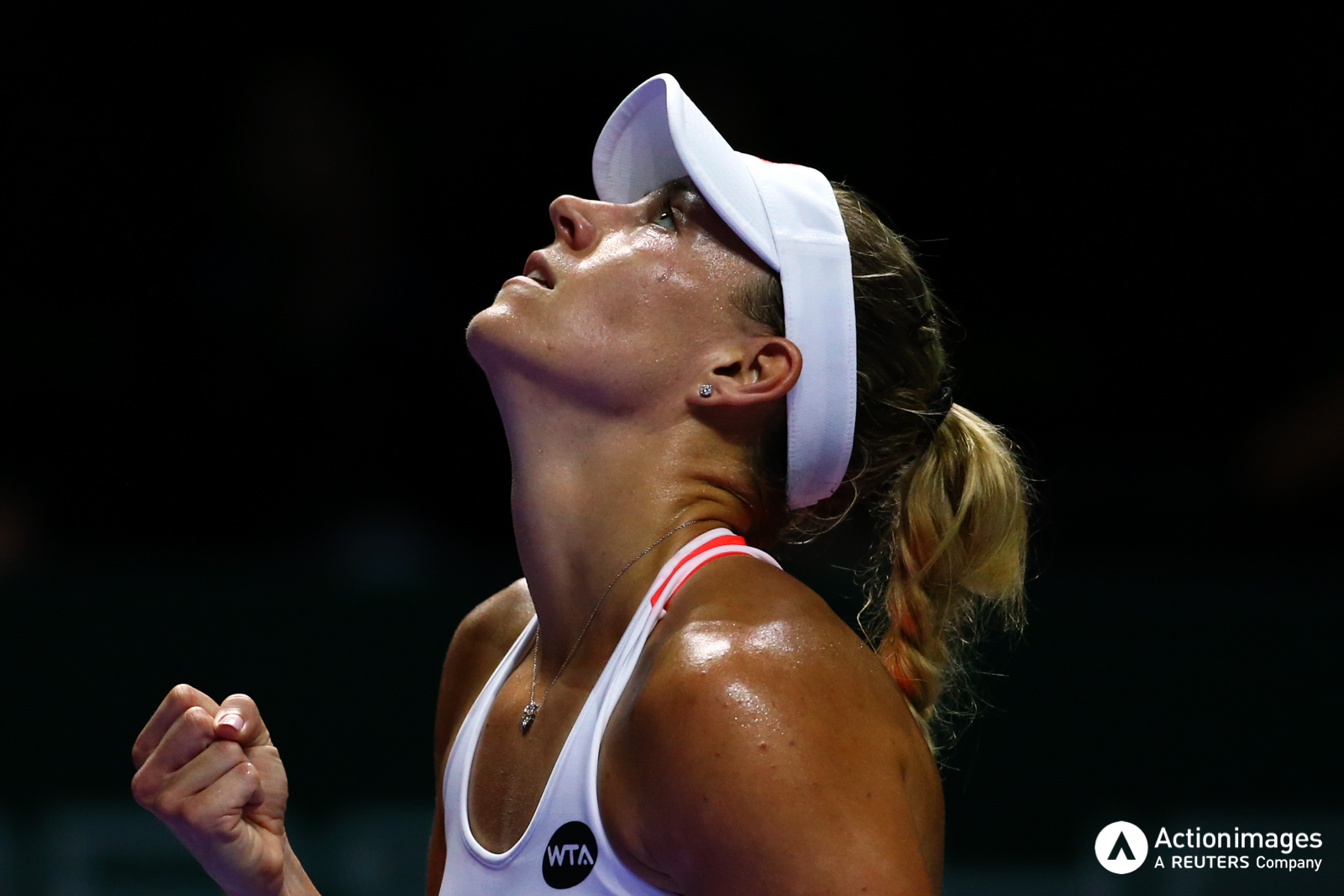 Tennis - BNP Paribas WTA Finals - Singapore Indoor Stadium - 25/10/16 Germany's Angelique Kerber celebrates during her round robin match Mandatory Credit: Action Images / Yong Teck Lim Livepic