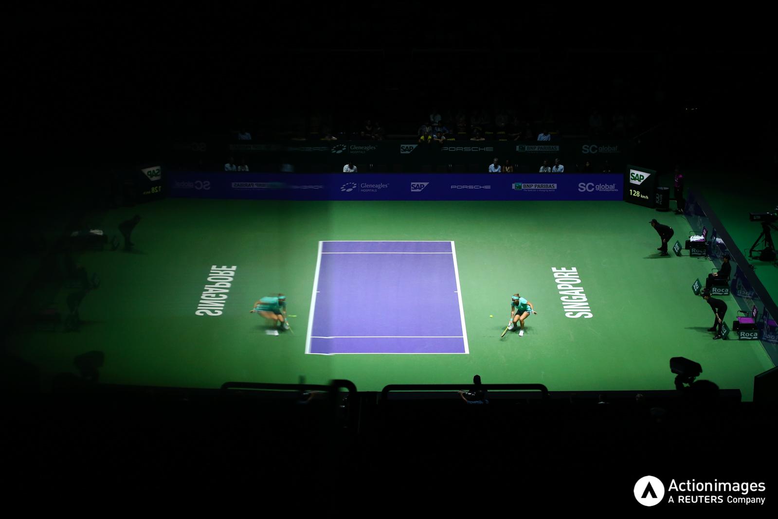 Tennis - BNP Paribas WTA Finals - Singapore Indoor Stadium - 26/10/16 Russia's Svetlana Kuznetsova in action during her round robin match Mandatory Credit: Action Images / Yong Teck Lim Livepic