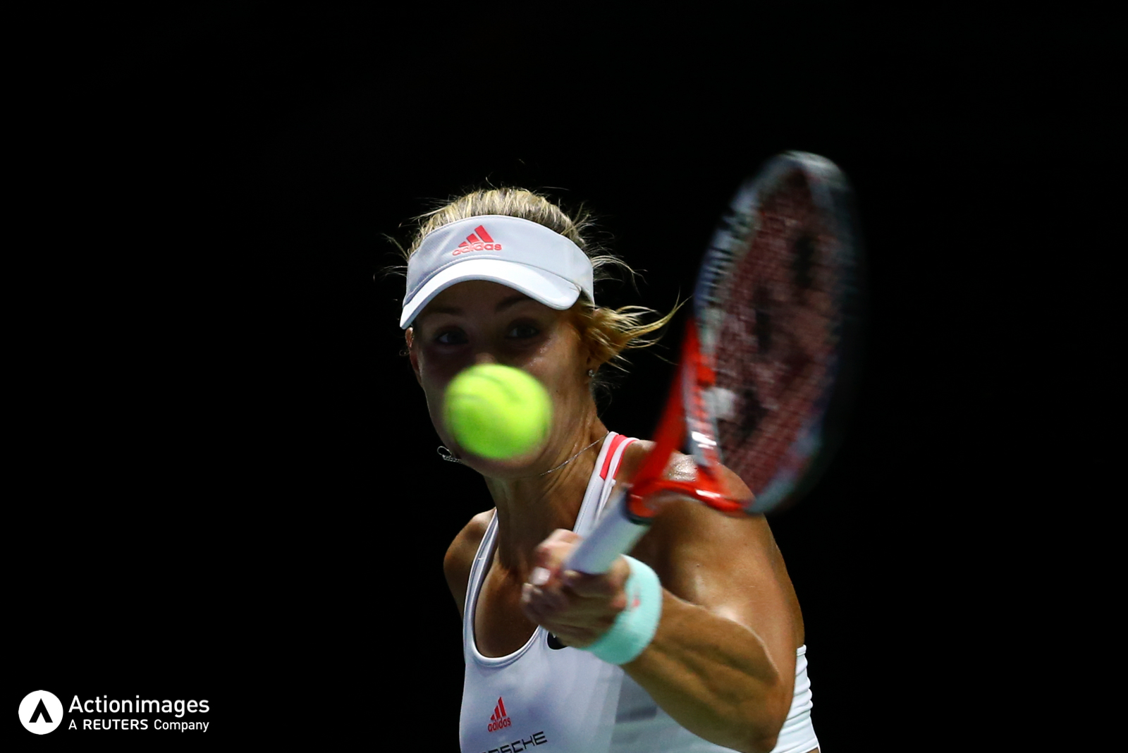 Tennis - BNP Paribas WTA Finals - Singapore Indoor Stadium - 29/10/16 Germany's Angelique Kerber in action during her semi final match Mandatory Credit: Action Images / Yong Teck Lim Livepic