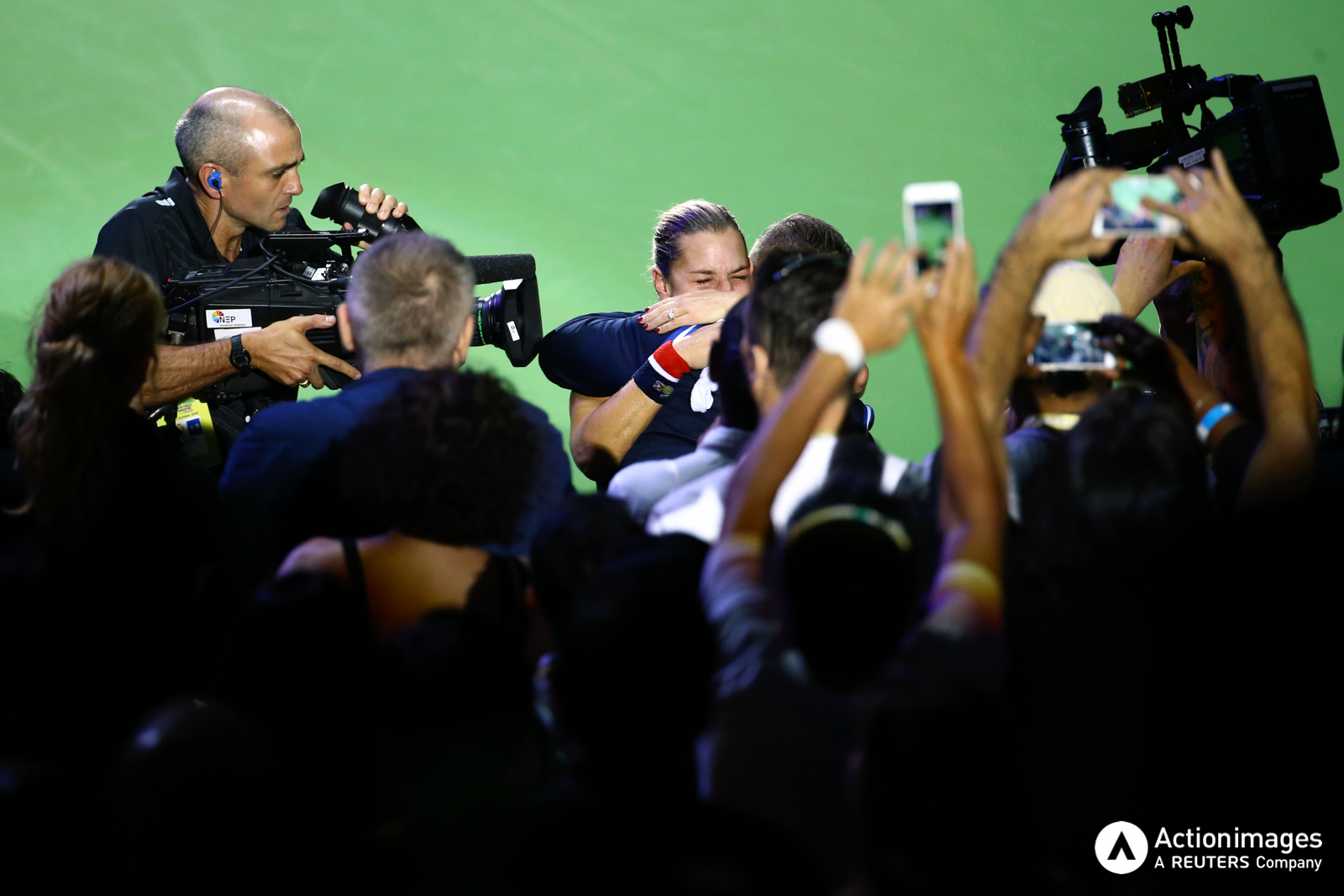 Tennis - BNP Paribas WTA Finals - Singapore Indoor Stadium - 30/10/16 Slovakia's Dominika Cibulkova celebrates winning the final Mandatory Credit: Action Images / Yong Teck Lim Livepic