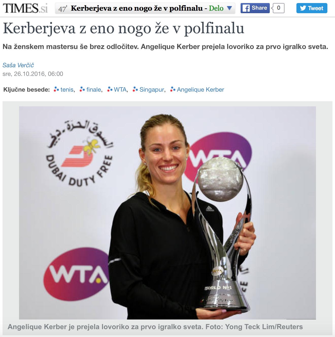 WTA Finals for Reuters (pictures.reuters.com)