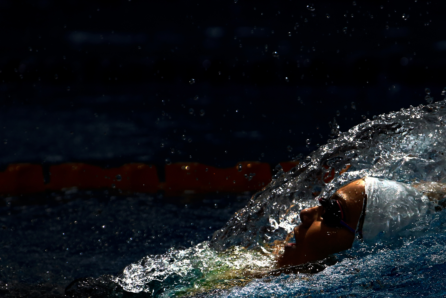 Emily Seebohm of Australia swims in the women's 200m backstroke heats during the FINA/airweave Swimming World Cup at the OCBC Aquatic Centre on October 21, 2016 in Singapore.