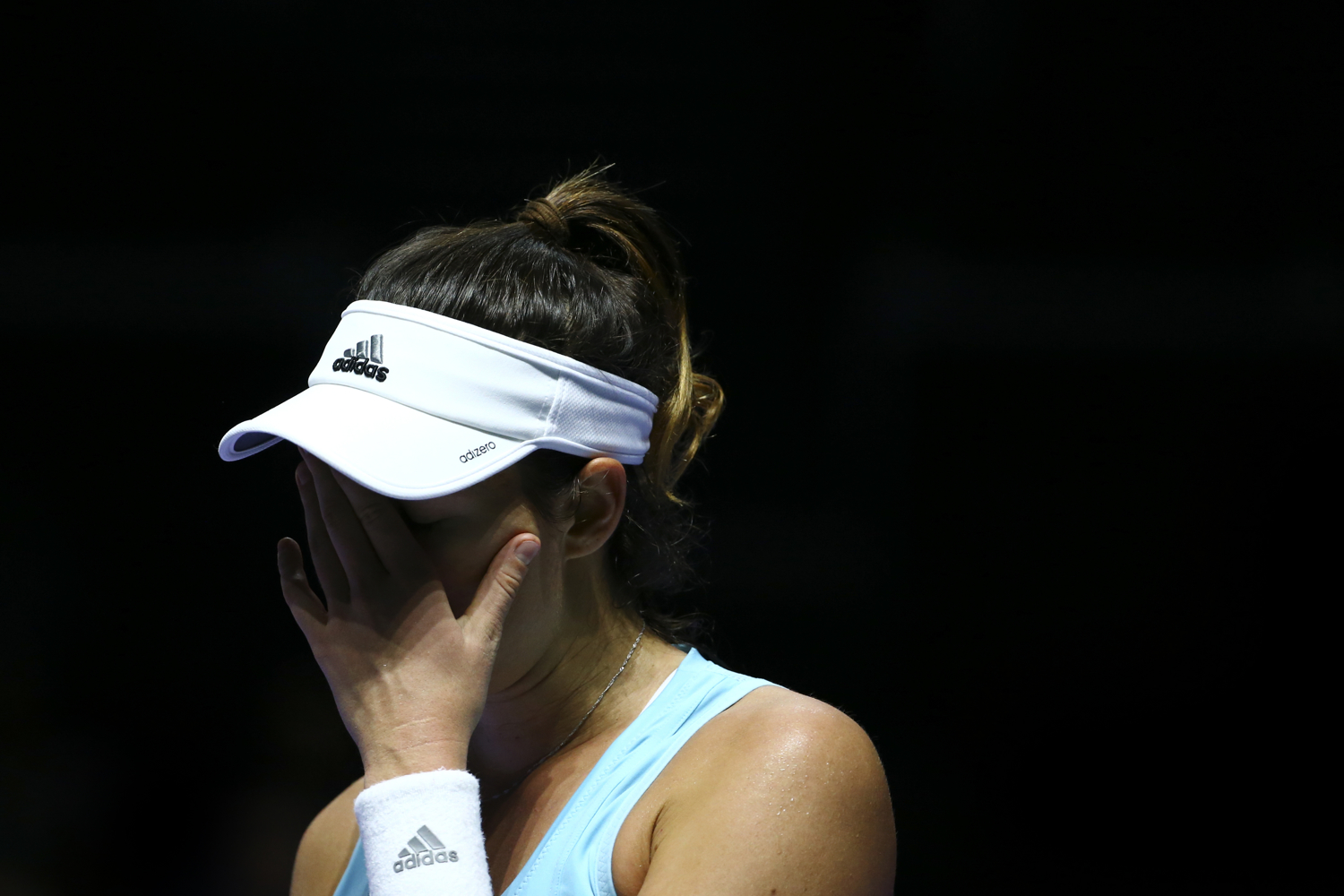 Tennis - BNP Paribas WTA Finals - Singapore Indoor Stadium - 25/10/16 Spain's Garbine Muguruza reacts during her round robin match Mandatory Credit: Action Images / Yong Teck Lim Livepic EDITORIAL USE ONLY.