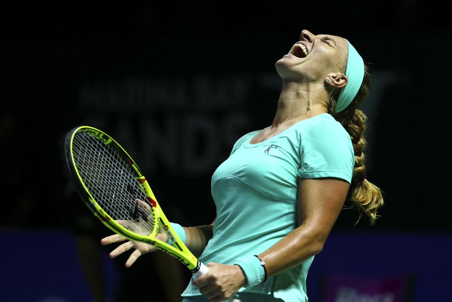 Tennis - BNP Paribas WTA Finals - Singapore Indoor Stadium - 24/10/16 Russia's Svetlana Kuznetsova reacts during her round robin match Mandatory Credit: Action Images / Yong Teck Lim Livepic EDITORIAL USE ONLY.
