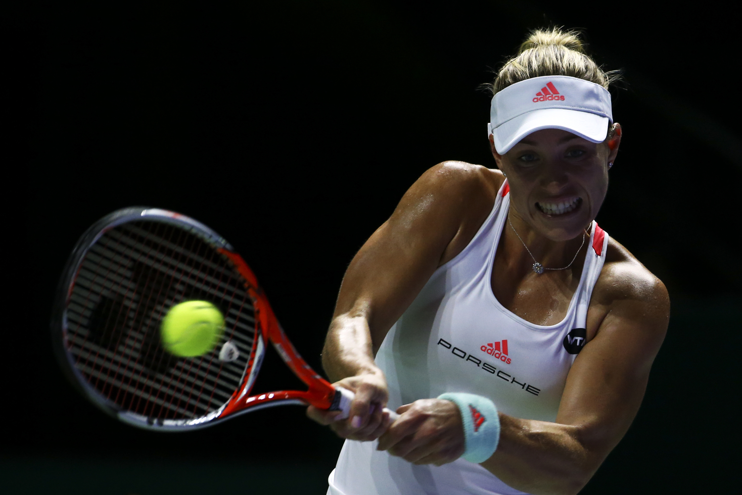 Tennis - BNP Paribas WTA Finals - Singapore Indoor Stadium - 25/10/16 Germany's Angelique Kerber in action during her round robin match Mandatory Credit: Action Images / Yong Teck Lim Livepic EDITORIAL USE ONLY.