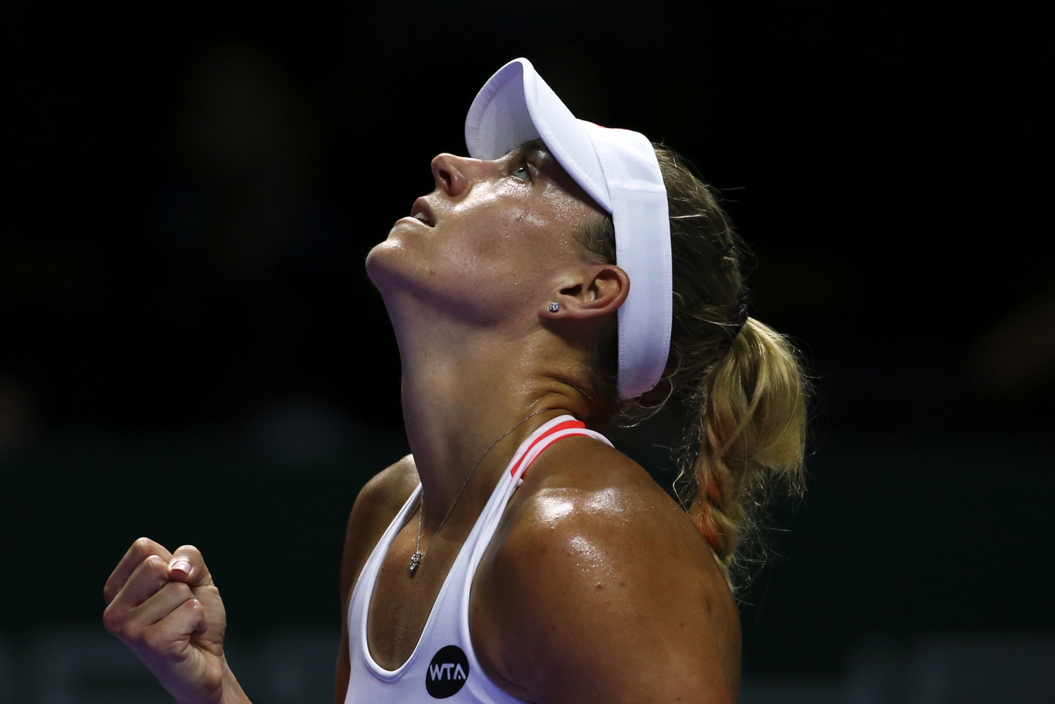 Tennis - BNP Paribas WTA Finals - Singapore Indoor Stadium - 25/10/16 Germany's Angelique Kerber celebrates during her round robin match Mandatory Credit: Action Images / Yong Teck Lim Livepic EDITORIAL USE ONLY.