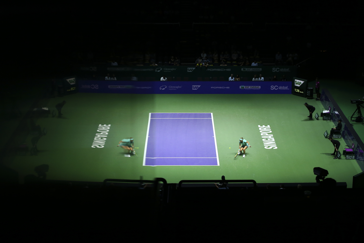 Tennis - BNP Paribas WTA Finals - Singapore Indoor Stadium - 26/10/16 Russia's Svetlana Kuznetsova in action during her round robin match Mandatory Credit: Action Images / Yong Teck Lim Livepic EDITORIAL USE ONLY.