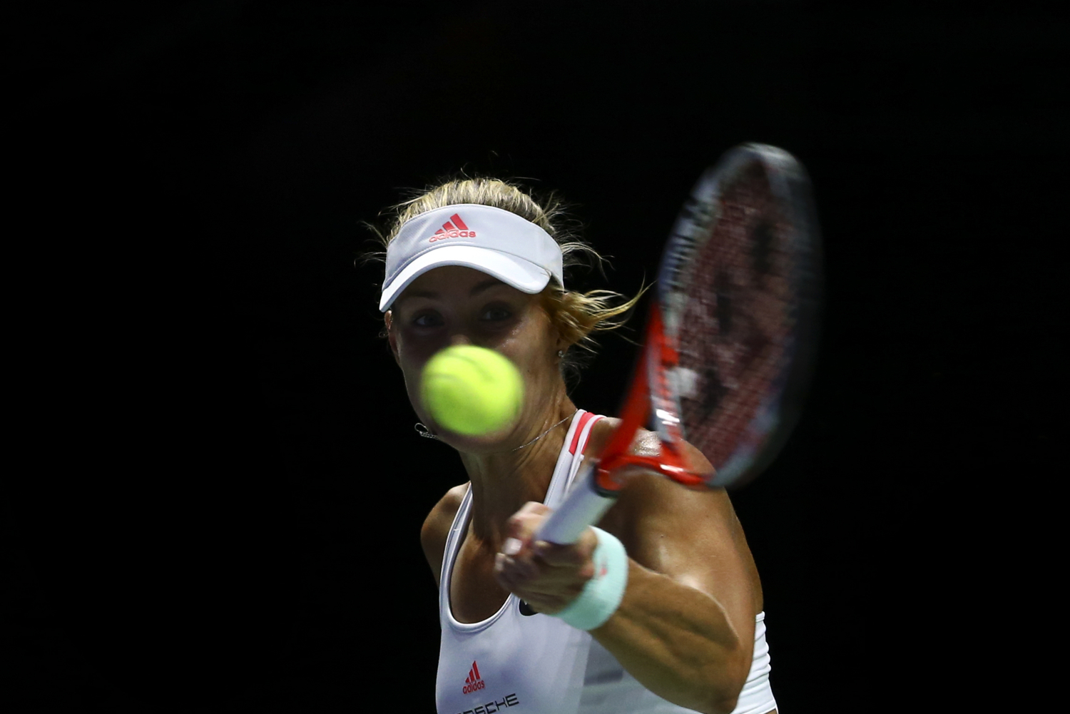 Tennis - BNP Paribas WTA Finals - Singapore Indoor Stadium - 29/10/16 Germany's Angelique Kerber in action during her semifinal match Mandatory Credit: Action Images / Yong Teck Lim Livepic EDITORIAL USE ONLY.