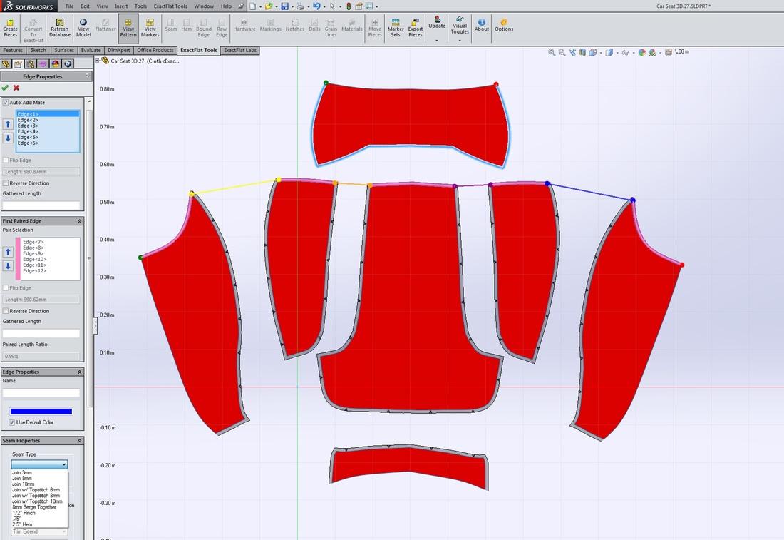ExactFlat for SolidWorks - Pattern Design