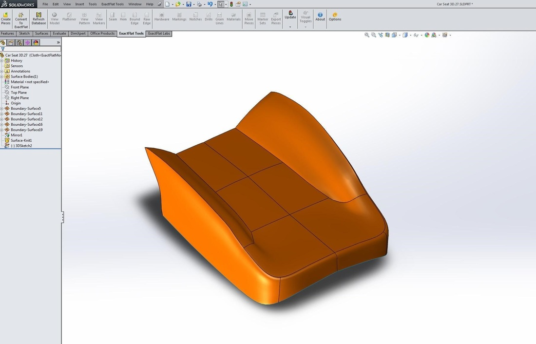 ExactFlat for SolidWorks - Model View