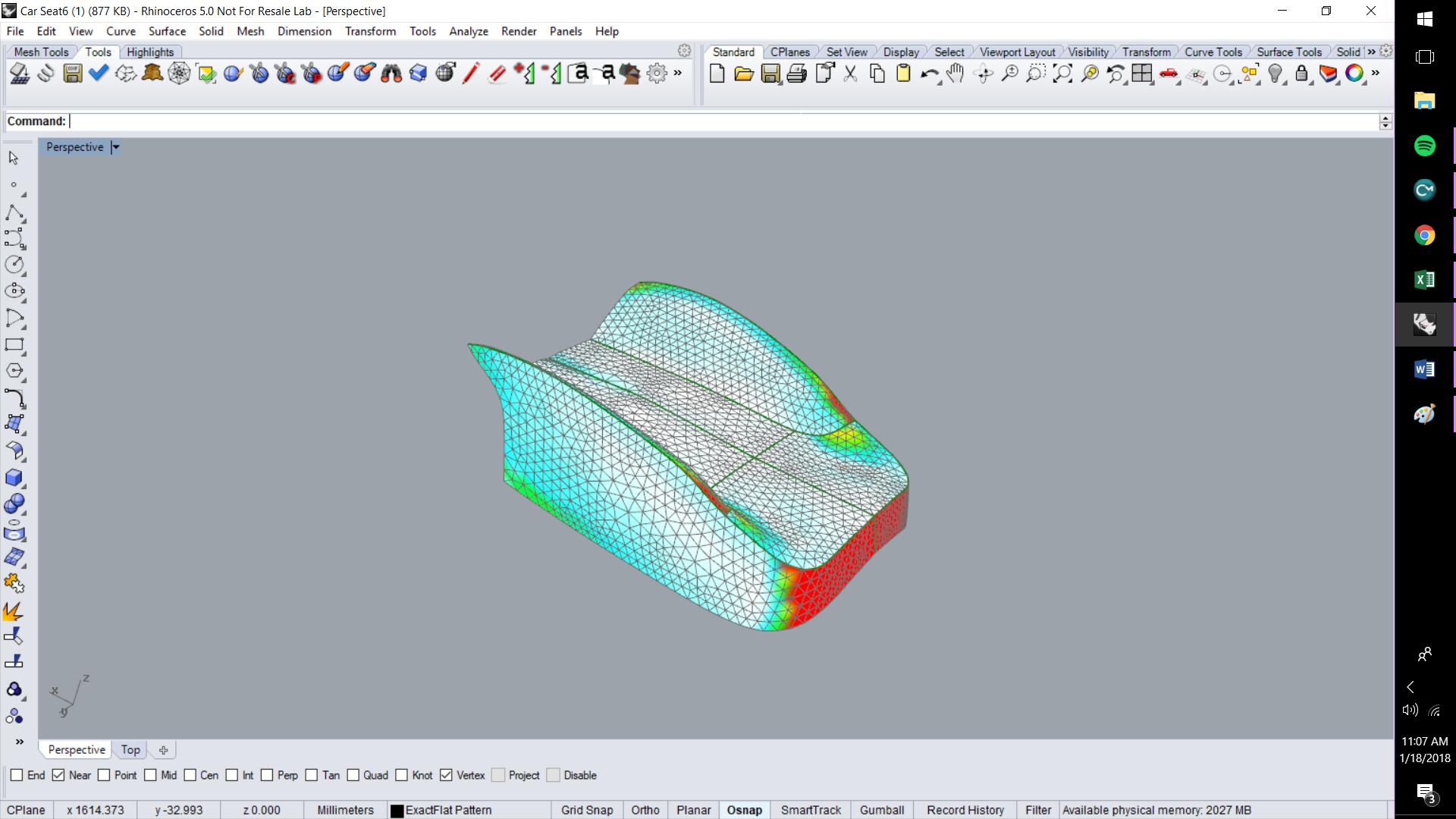 ExactFlat For Rhino - Strain in 3D