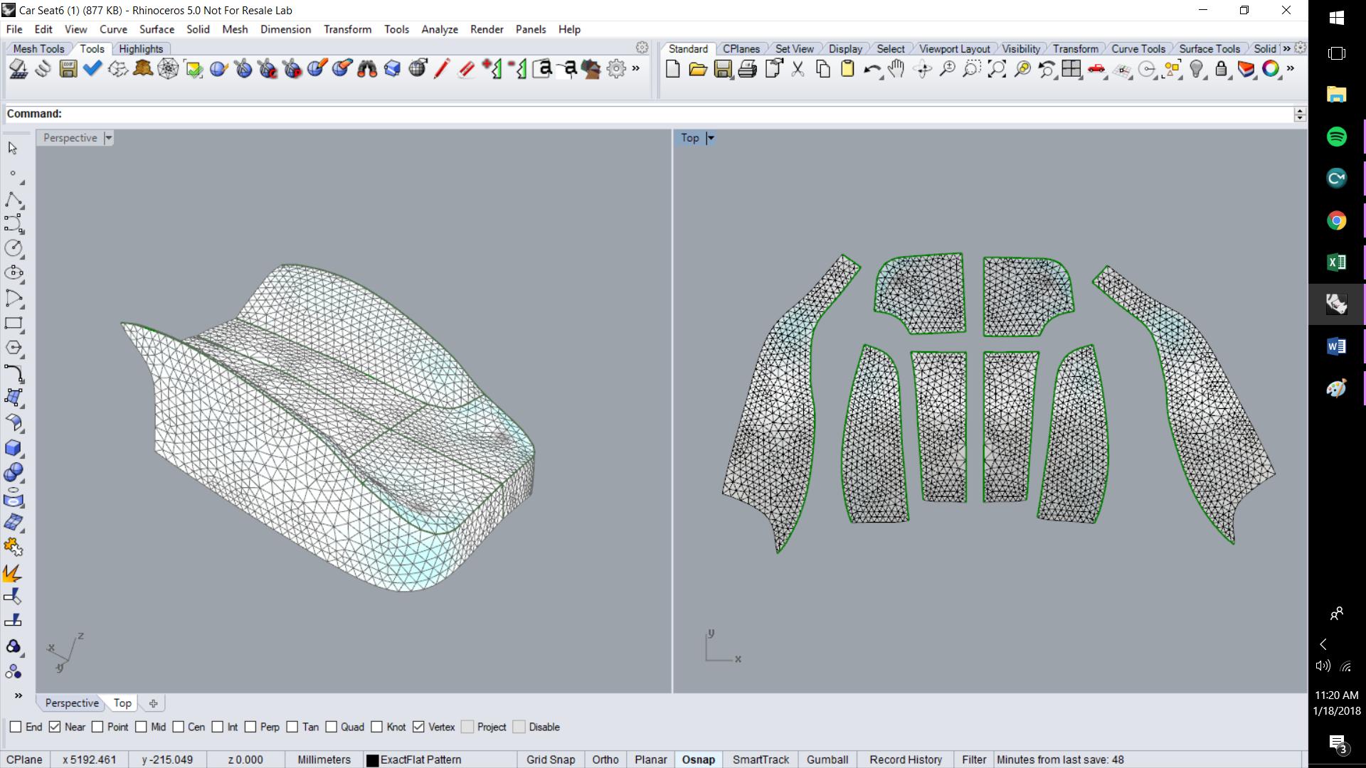 ExactFlat For Rhino - Optimized Flat Patterns