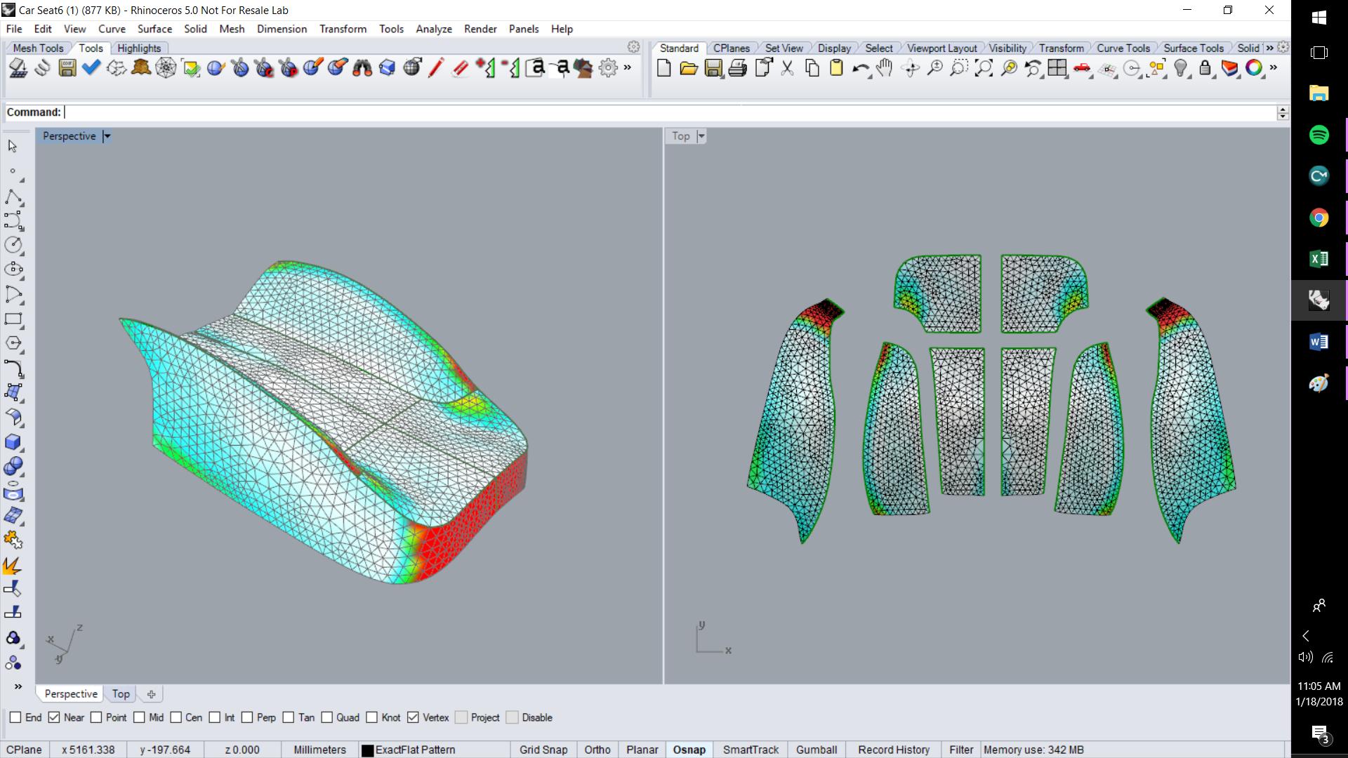 ExactFlat For Rhino - Initial Flat Patterns