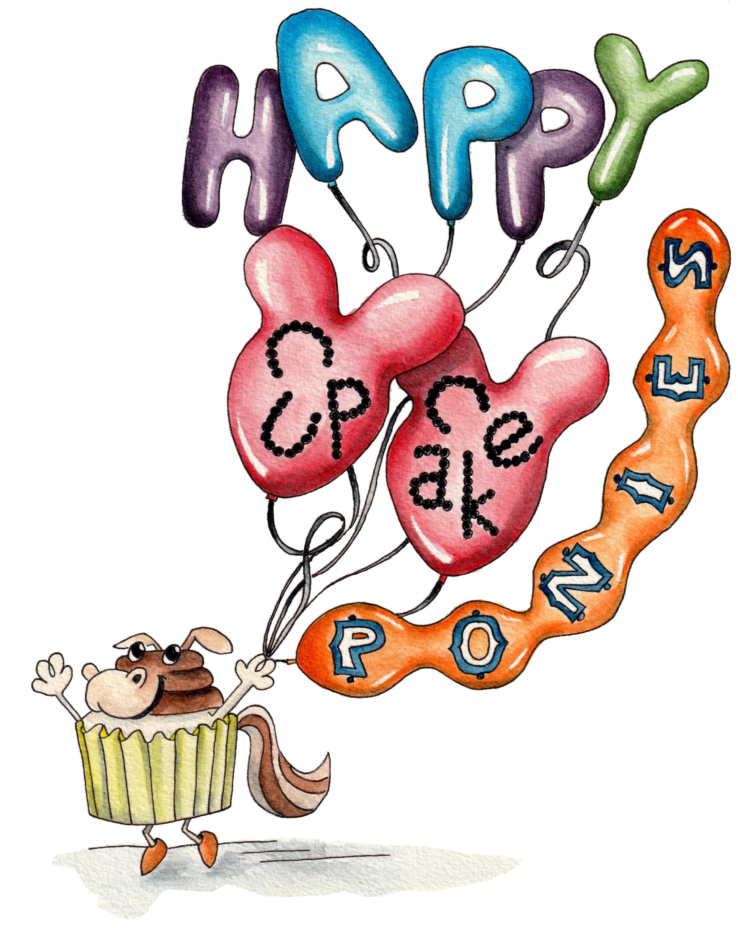 HAPPY CUPCAKE PONIES
