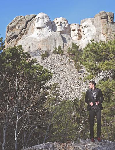 Visiting the presidents in South Dakota