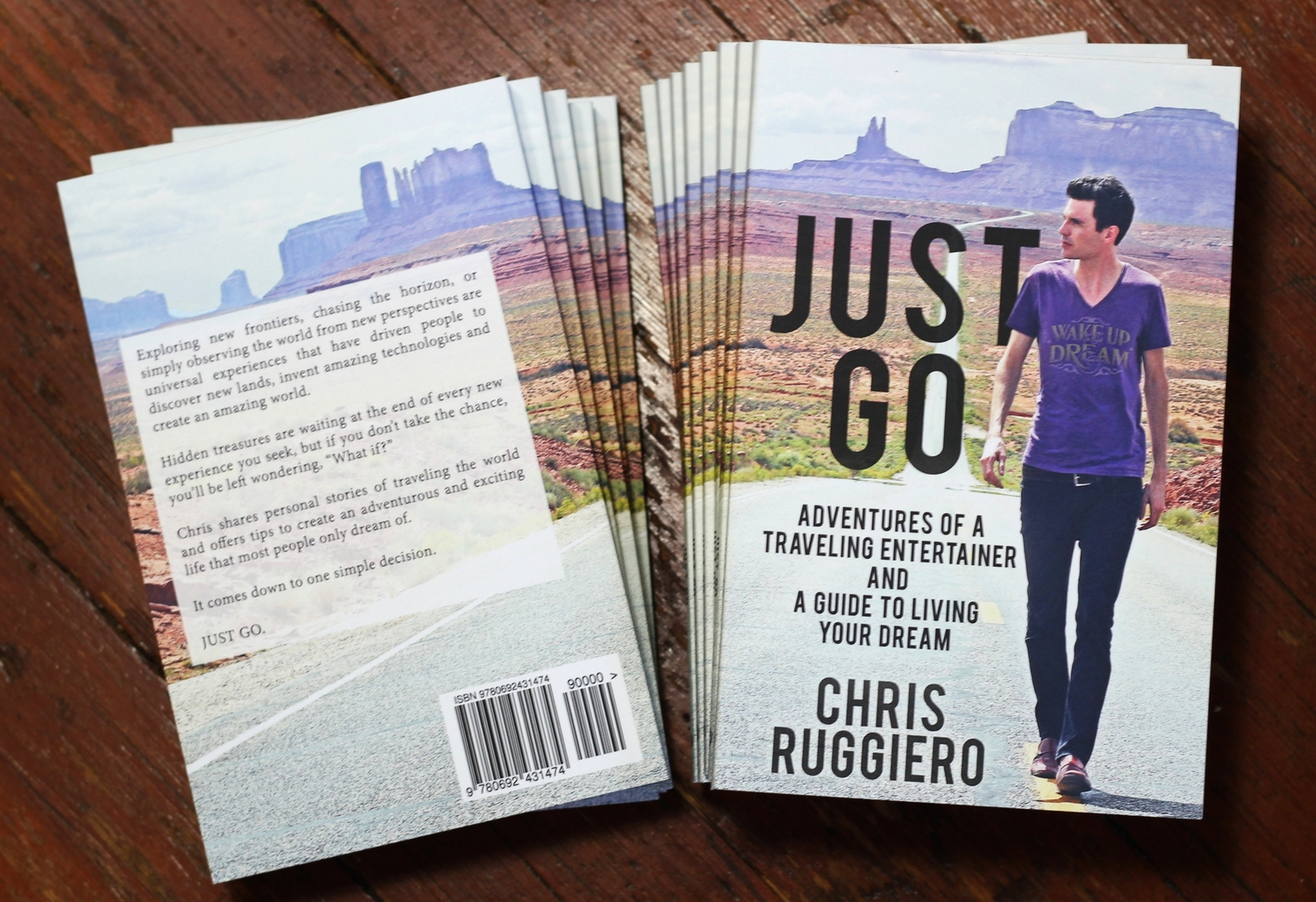 """ Just Go "" The new book from Chris Ruggiero"