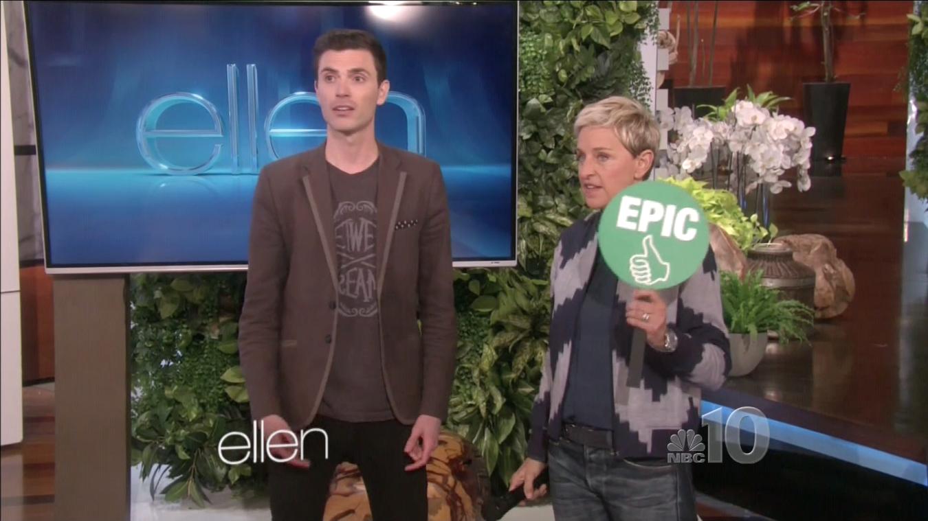 Ellen says Chris Ruggiero is an EPIC entertainer!