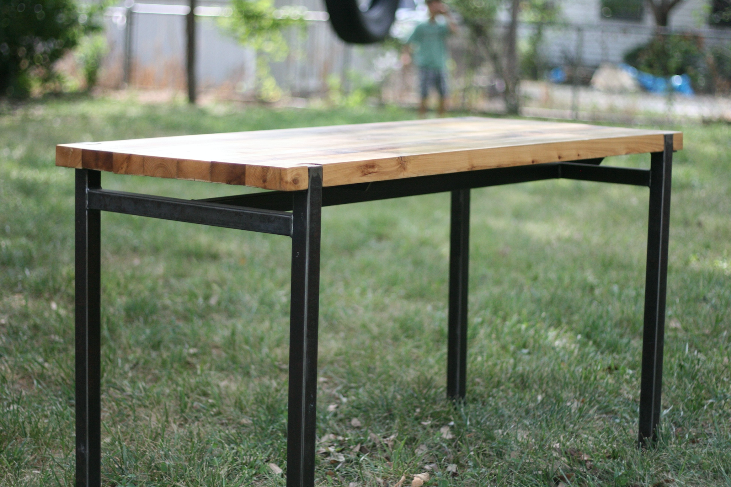 CEDAR + STEEL BREAKFAST TABLE