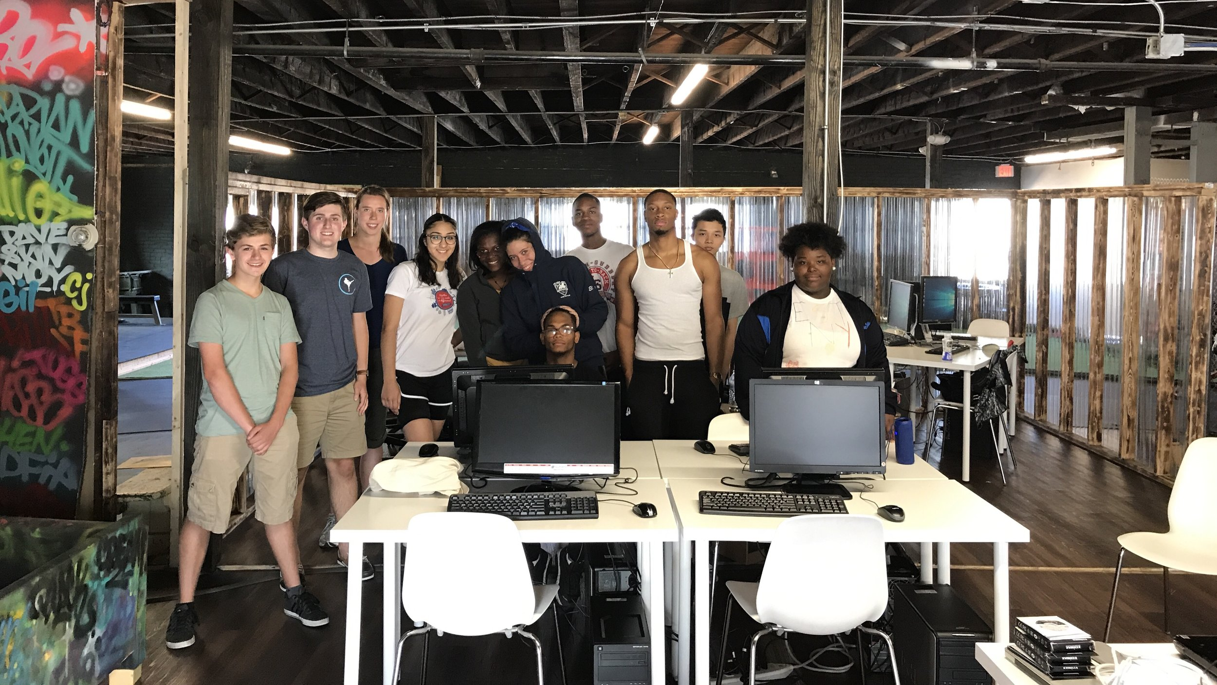 5 refurbished computers donated and installed at Non-Profit Level Ground MMA to help inner-city youth prepare for GED and job training.