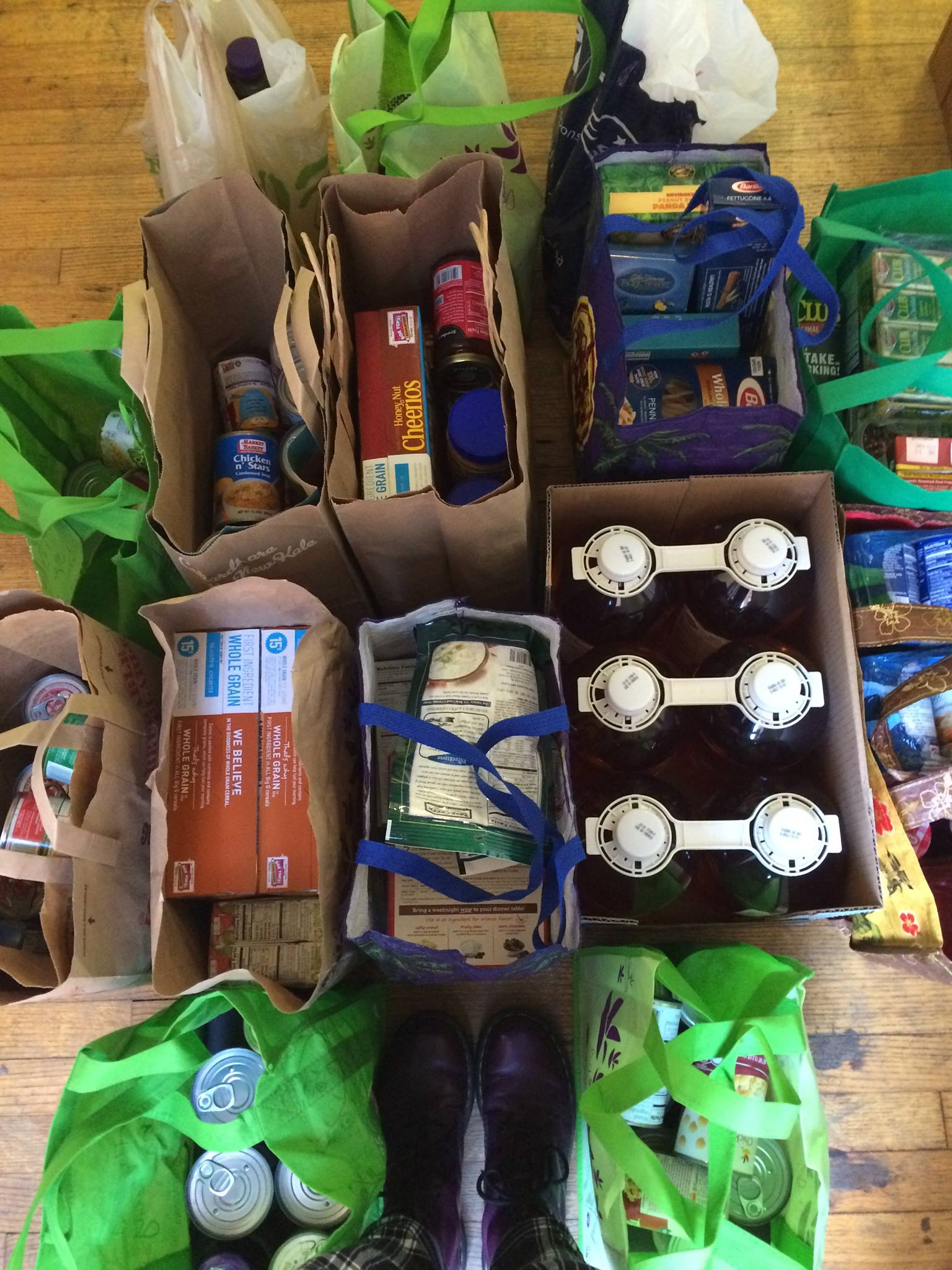 Year to date: Over 1000 lbs. of food donated to the Natick Service Council