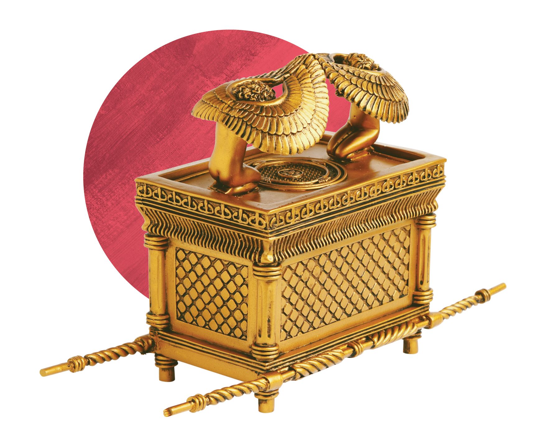 Image credit: George Dukines / Shutterstock.    The Ark of the Covenant   As a symbol of God's presence with Israel, the ark of the covenant was the center of Yahweh worship. It was brought into the temple each year at Passover (Psa 24:7–9). The ark moved with God's people during the wilderness wanderings, was temporarily housed at Shiloh, and eventually dwelled in Solomon's temple. Image created based on Exodus 25:10-22 .