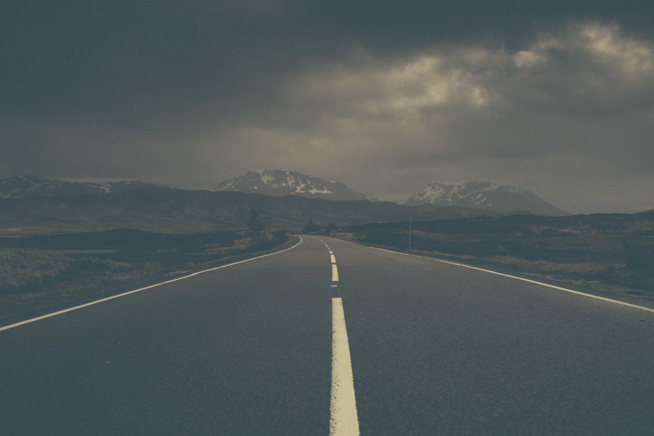 Road in the Scottish Highlands