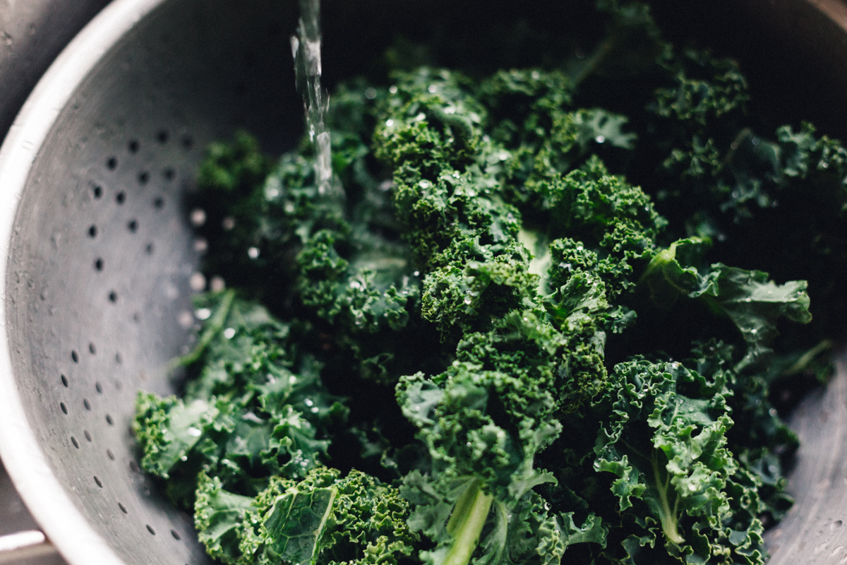 Kale: one of my favourite cruciferous vegetables.