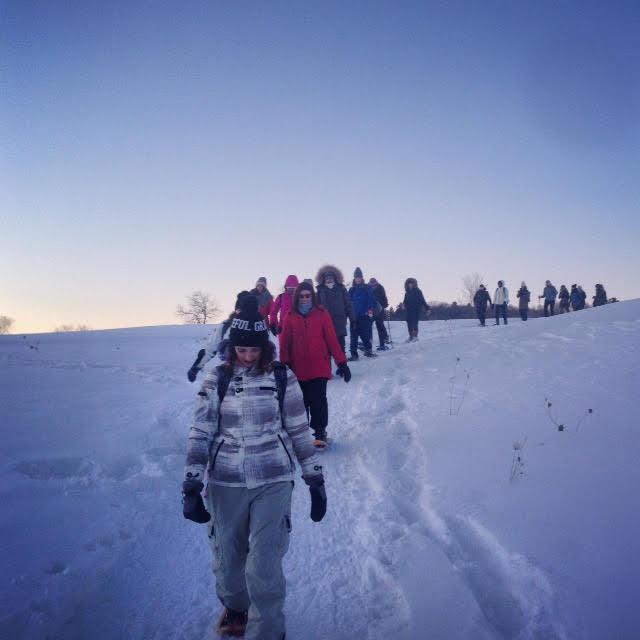 Trekking Through The Snow