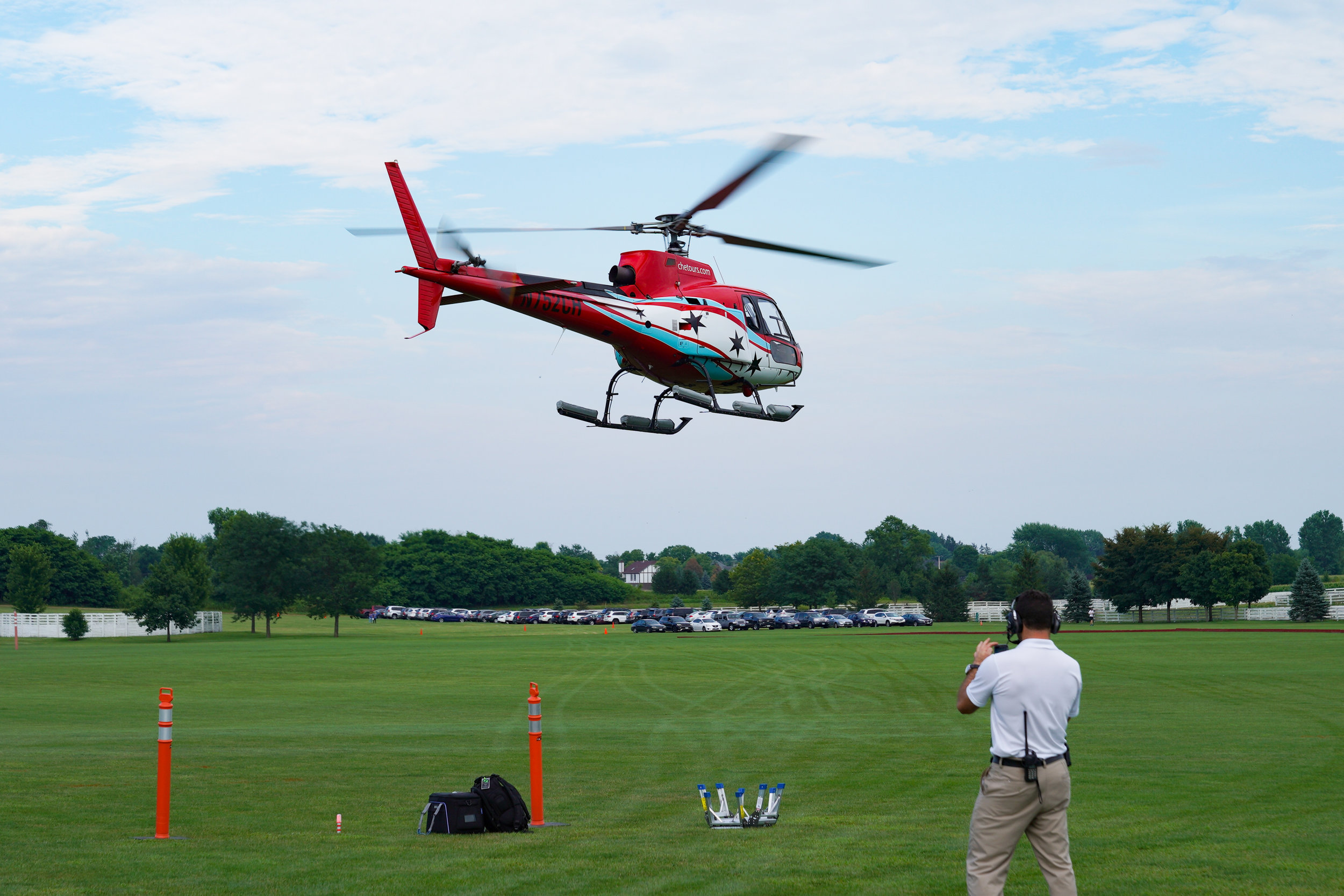 Chicago Helicopter Experience had concert goers transported in style from Chicago to Arranmore.