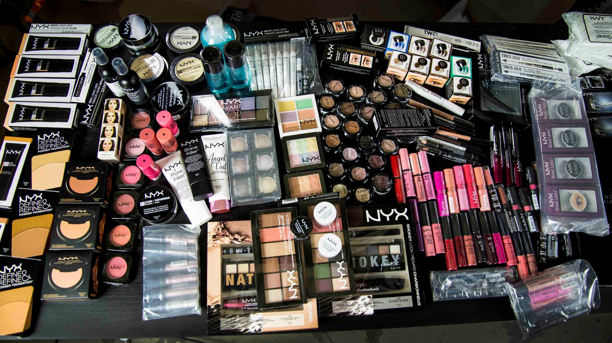 Only 2/3 of all the products could fit in this photo!