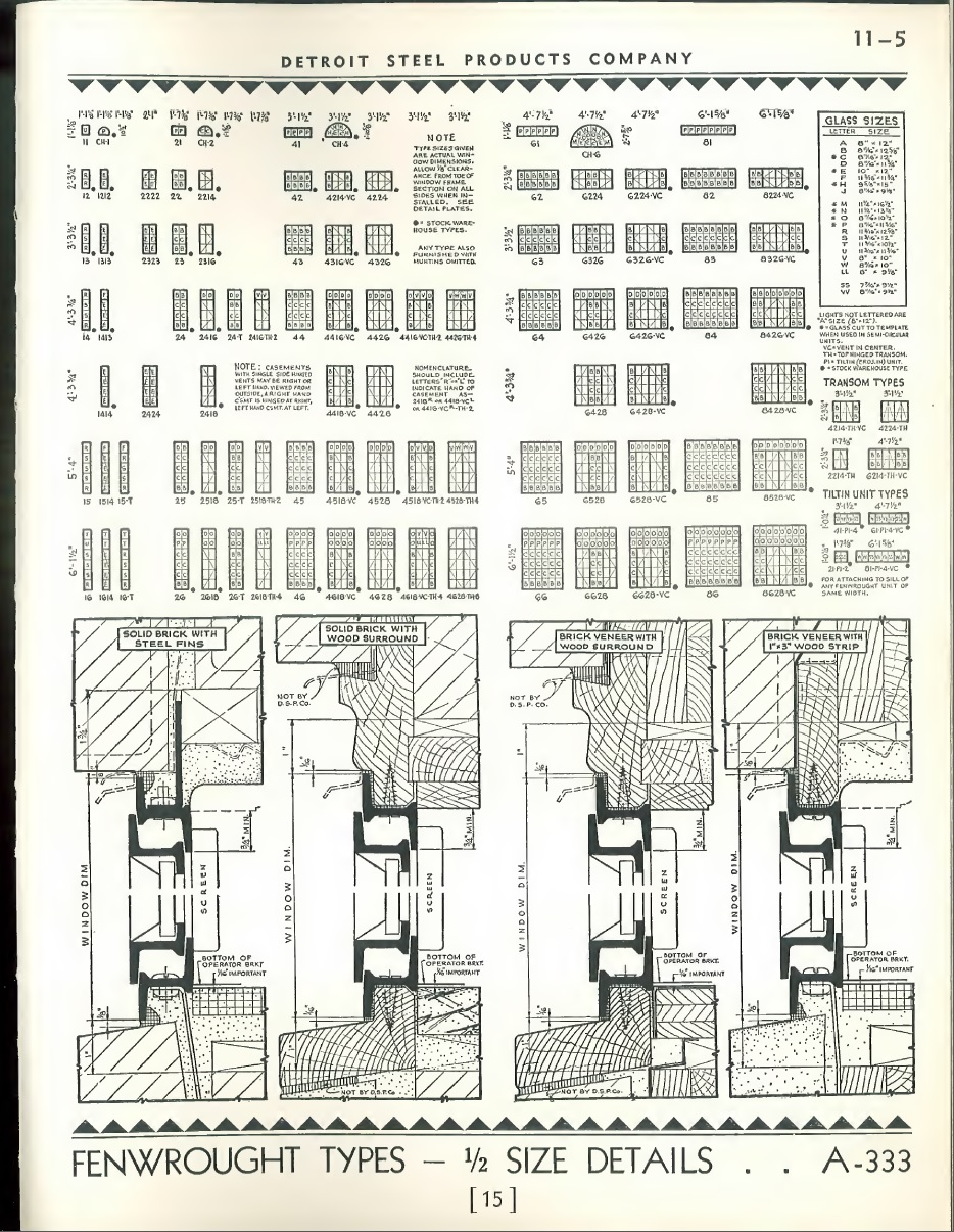 """From the 1925 Fenestra """"Blue Book"""" where they describe how the window sections are welded together to make a lot of different options"""