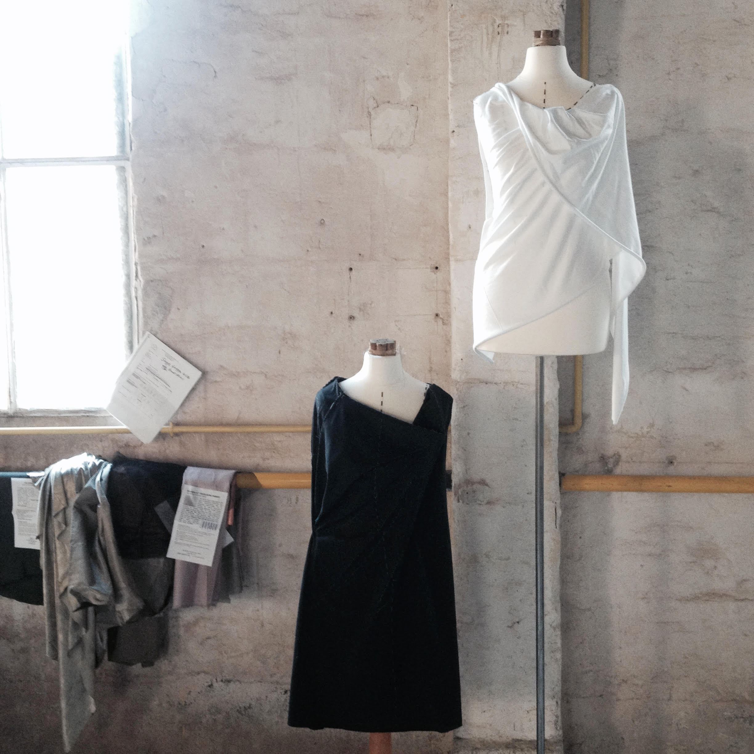 introduction to draping workshop led by Rachel Freire