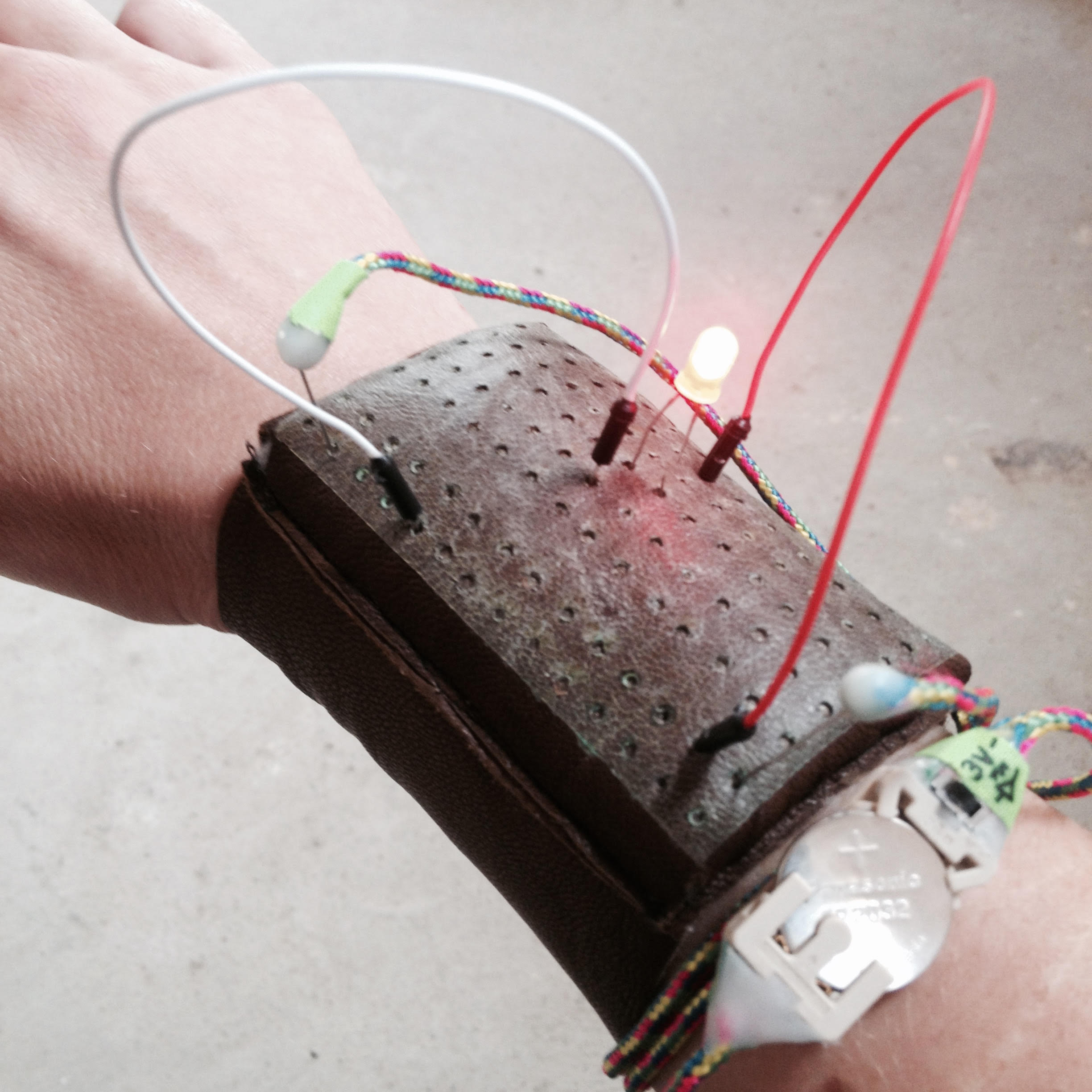 first circuit test using Irene's portable battery pack/continuity tester