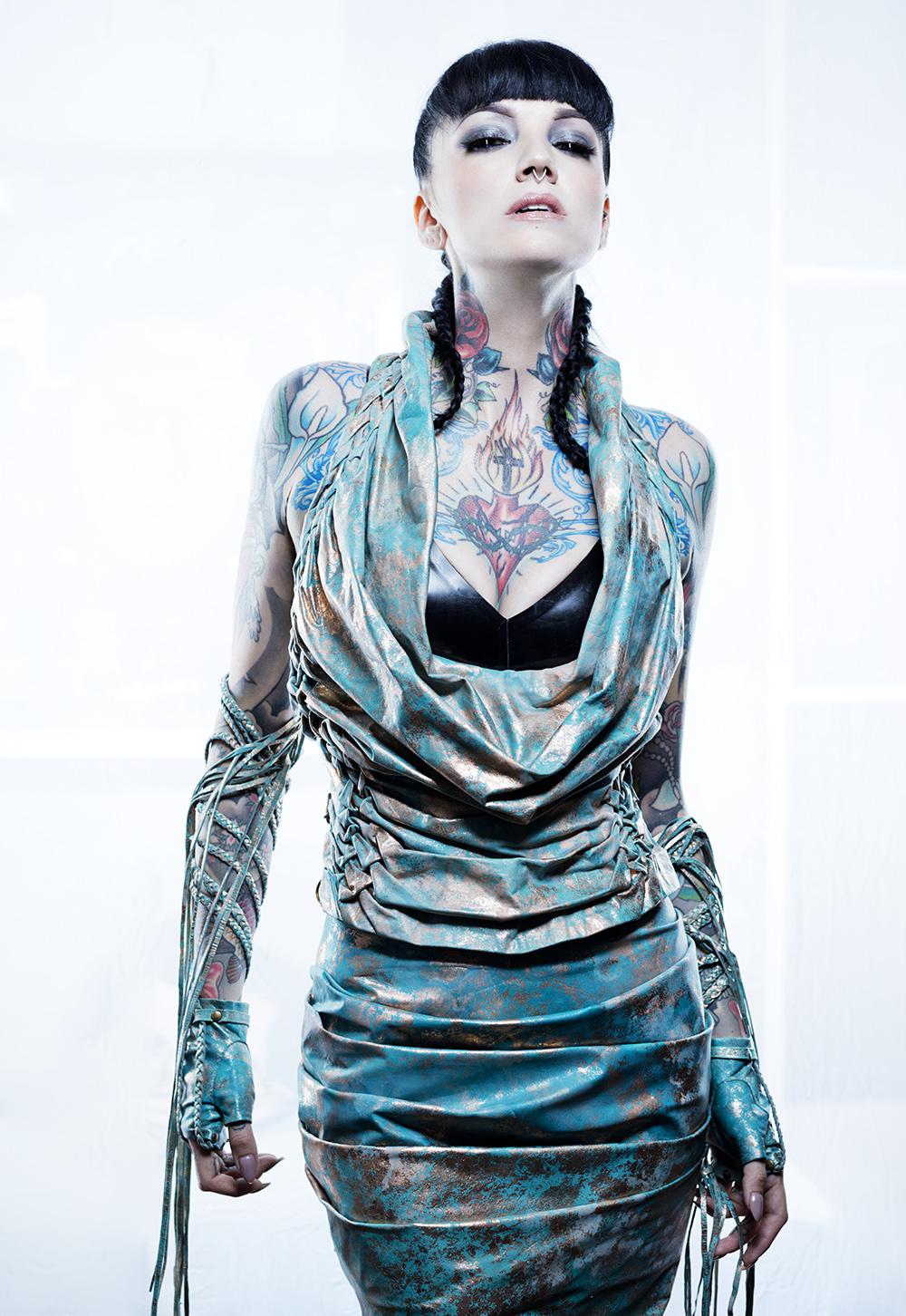 Verdigris Couture Leather