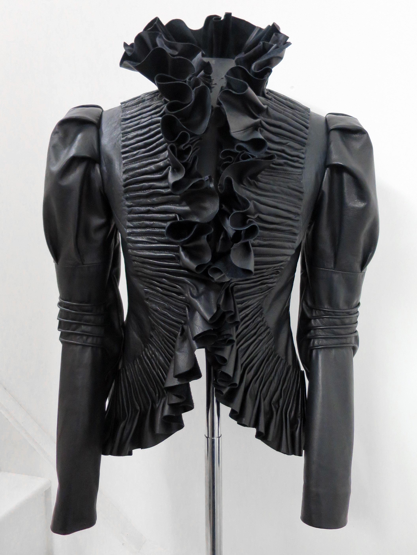 bespoke jacket in japanese plonge leather