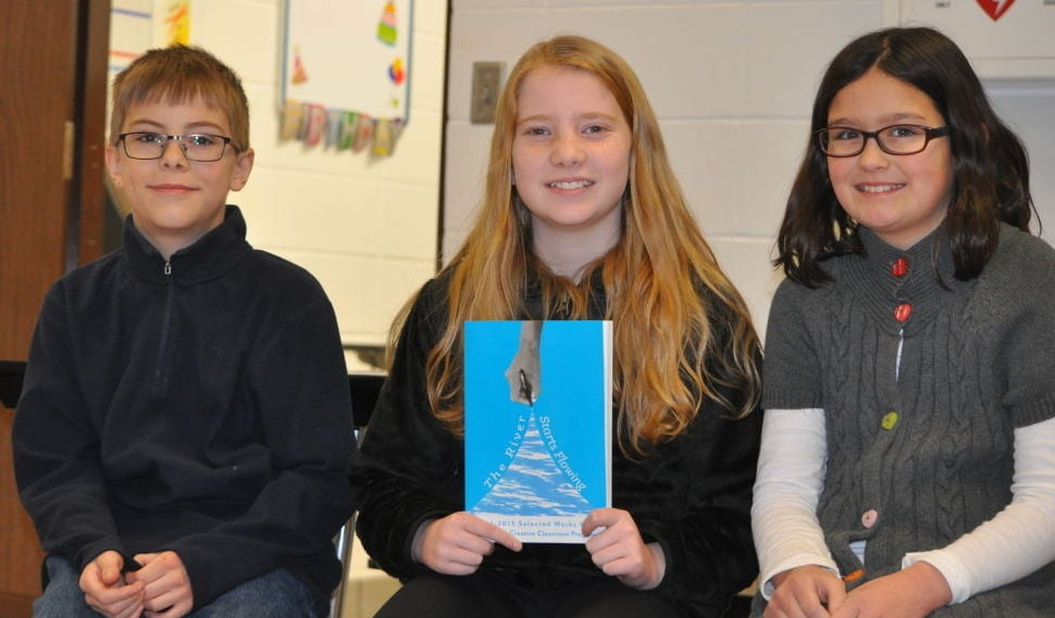 photo by Mikell Melius. Fifth-graders: Jacob Eibs, Sophie Klehr and Hattie Tuck