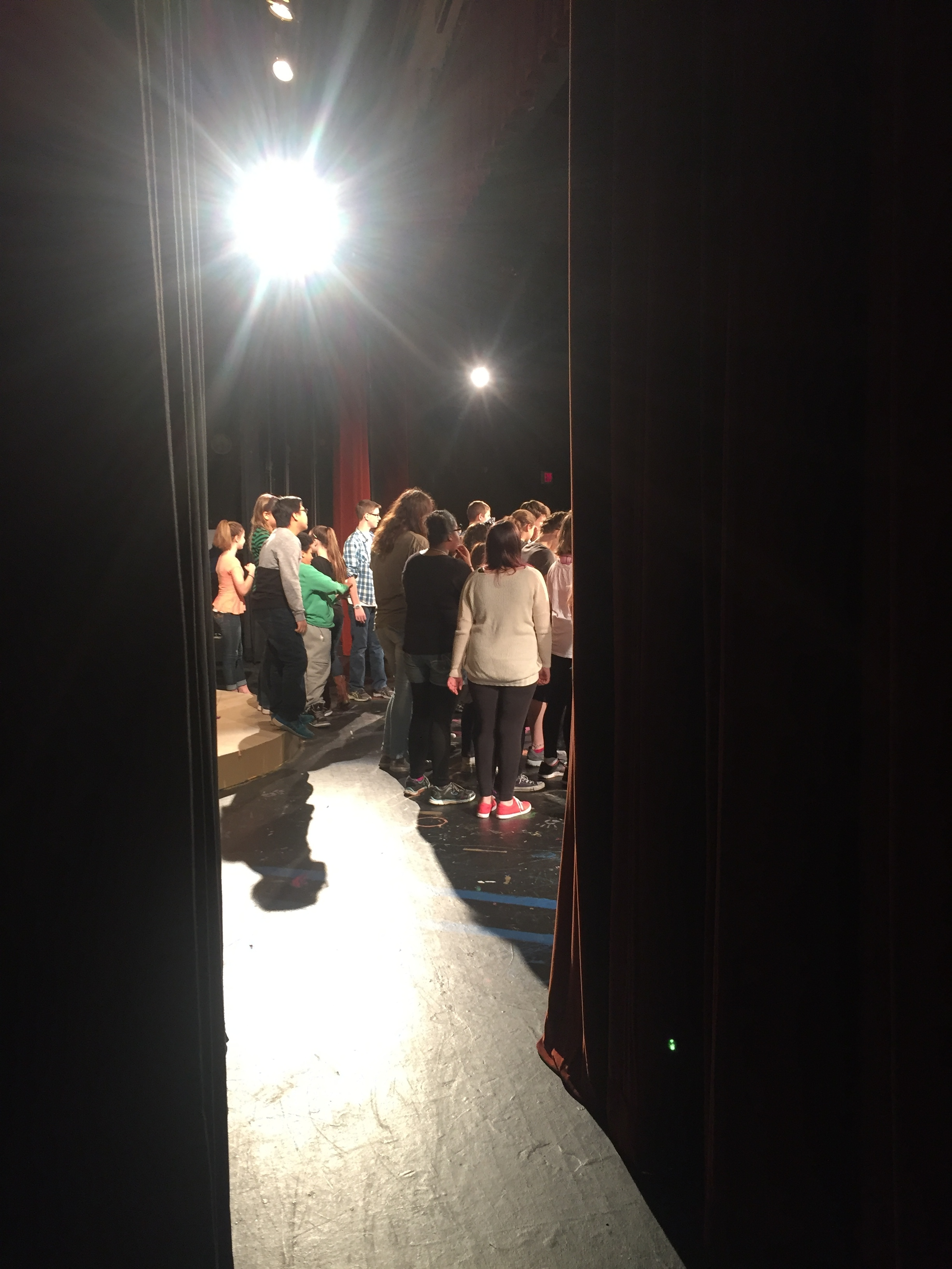 The CAST Receiving directions, as seen from backstage. Photo credit T. Krueger