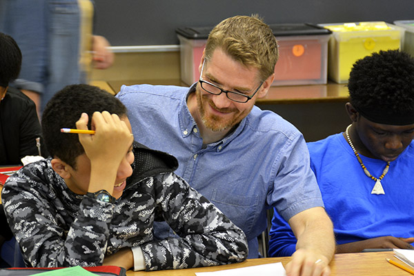 Levi Weinhagen and students