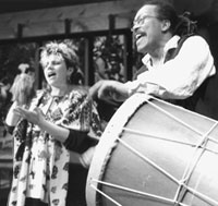 Performing in 1993.