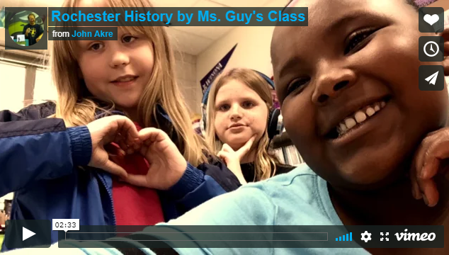 Screenshot from Riverside Elementary students' stop-motion film