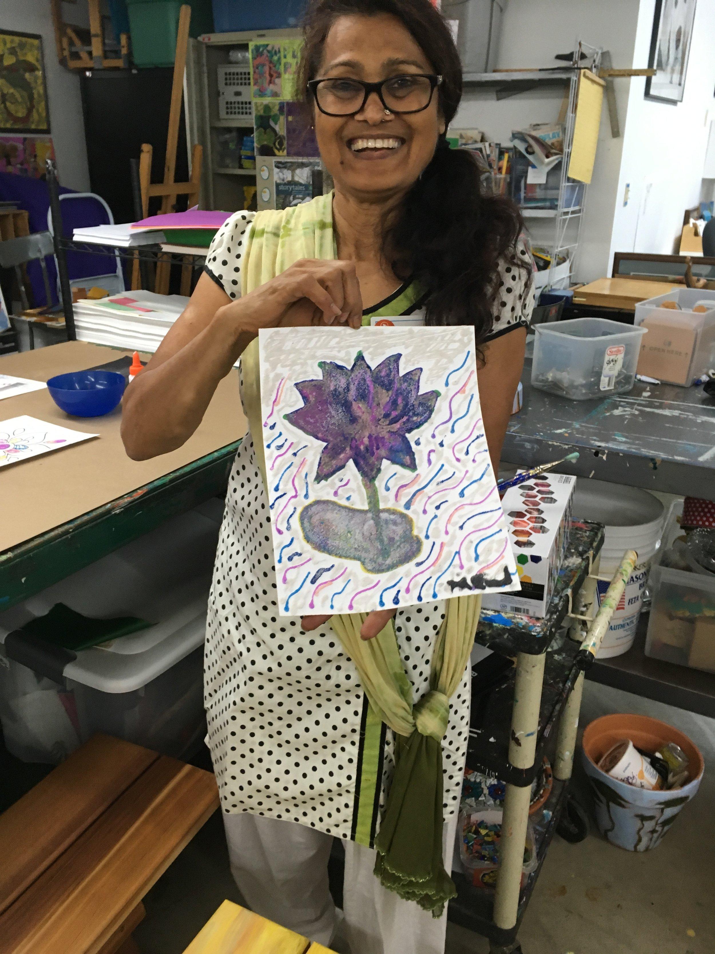 Teaching Artist Shakun Maheshwari at Avivo ArtWorks