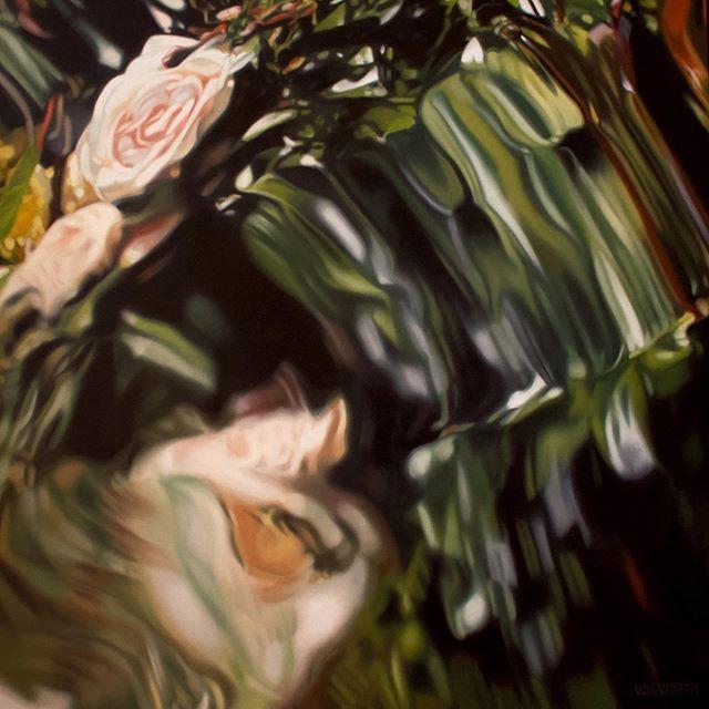 """Marvel II"" 24x24 in  #oiloncanvas #painting #walworthstudio"