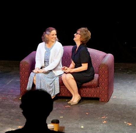 Saskya (left) performing at Risley Theatre.