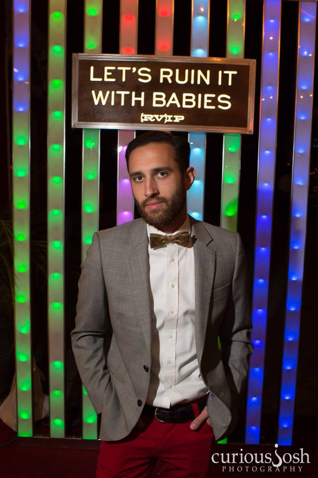 Sam's at  Let's Ruin It With Babies  premiere, a film in which he was the Cinematographer and Co-Star.