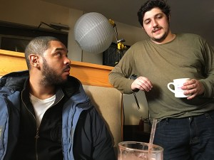 Daniel directing  Darryle Johnson (AWI Alum) in the proof of concept of his feature film, Stationed At Home